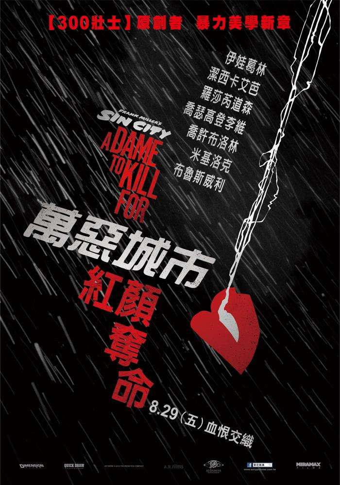 萬惡城市:紅顏奪命_SIN CITY : A DAME TO KILL FOR 3D_電影海報