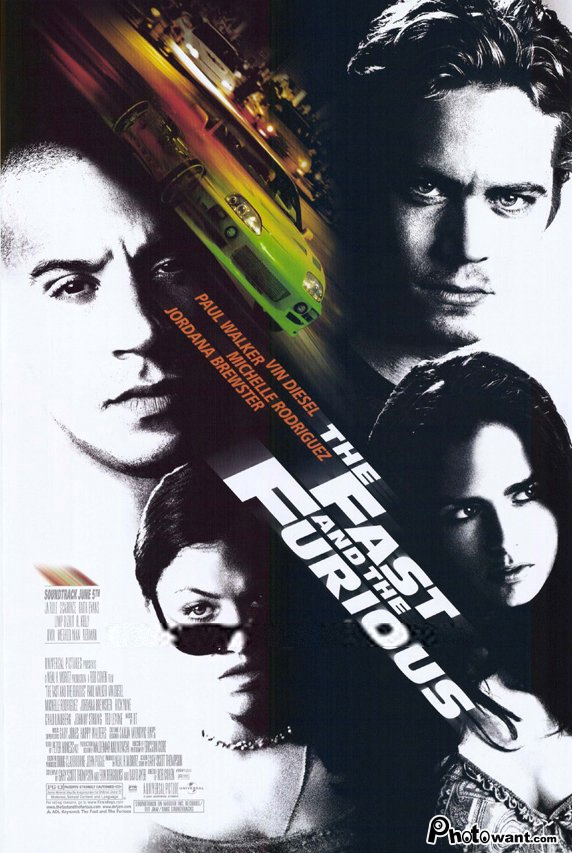 玩命關頭_The Fast And The Furious_電影海報