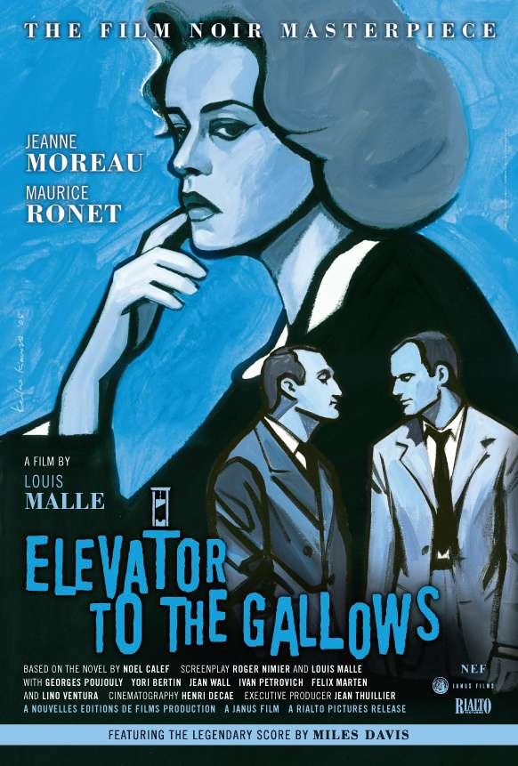 死刑台與電梯_Elevator to the Gallows_電影海報