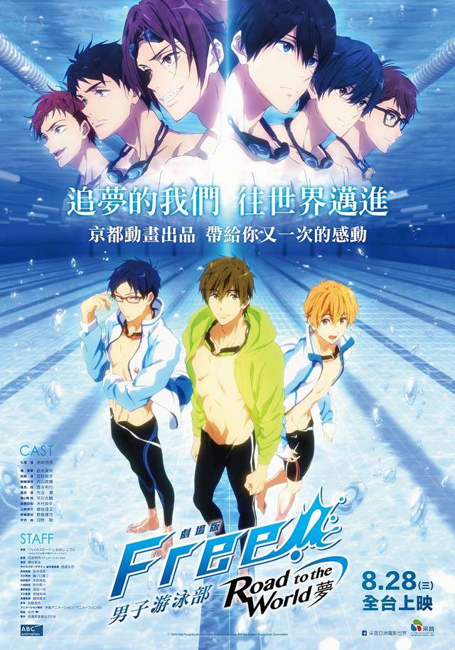 劇場版FREE! Road to the World–夢_Free! - Road to the World - the Dream_電影海報