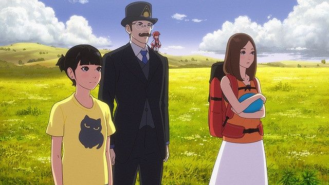 松岡茉優替改編自奇幻青少年文學,原惠一監督的動畫電影《生日幻境》主角小茜(左)配音演出。